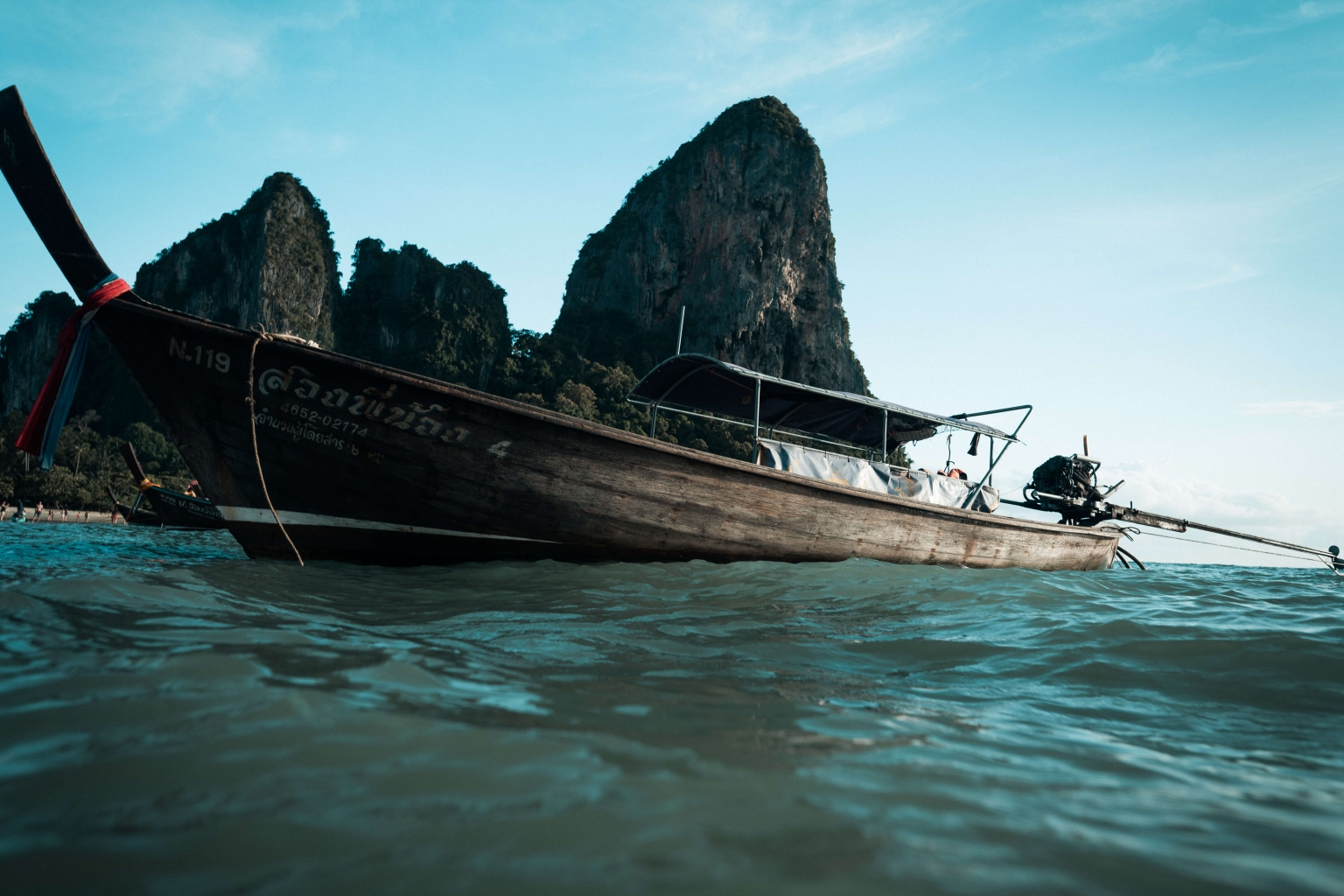 Renting a Long Tail boat at Railay Beach