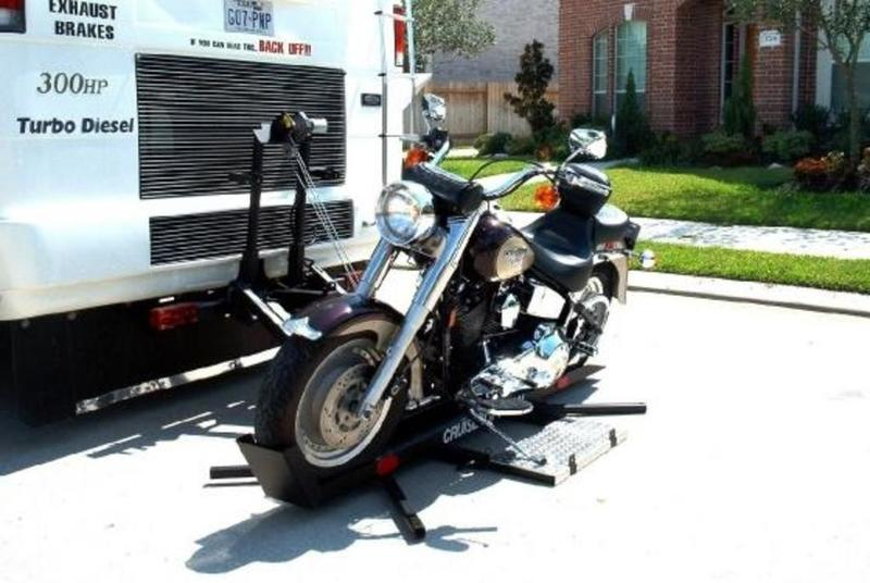 How to flat tow with a motorcycle on RV